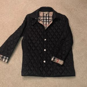 Black 100% Authentic Burberry Quilted Coat